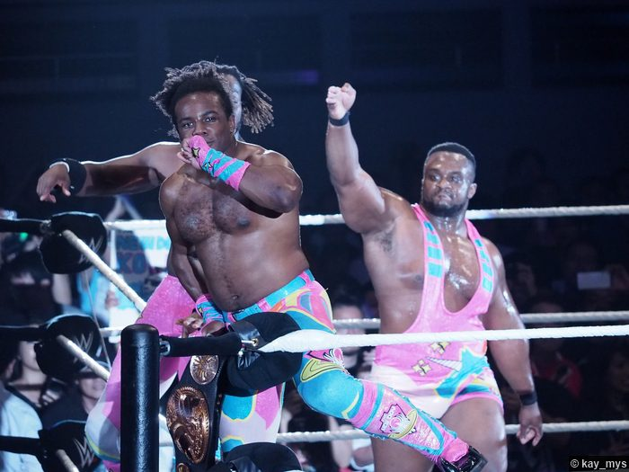 02072016 New Day Big E Xavier Woods Tag Team Title Belt