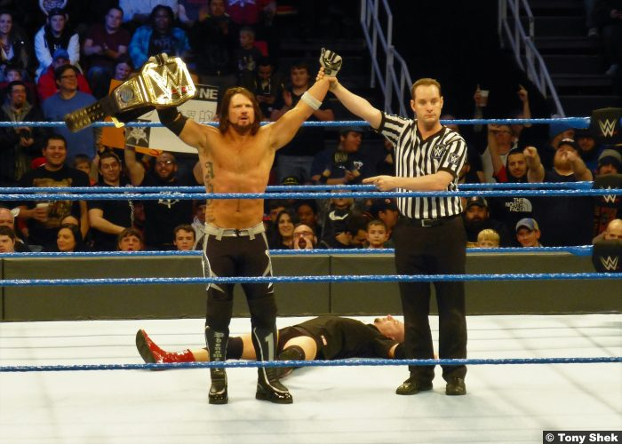 Aj Styles Smackdown World Title Belt James Ellsworth 201216
