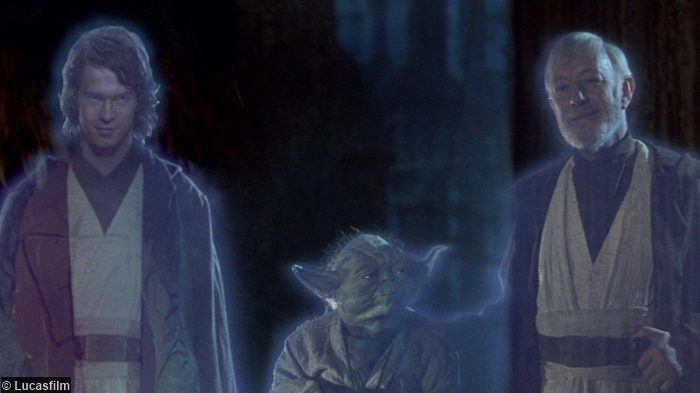 Star Wars Anakin Yoda Obi Wan Ghosts Rotj