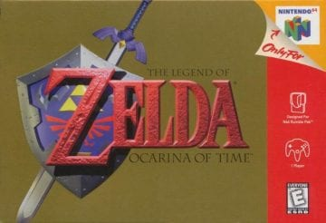 Zelda Ocarina Time 1998 Cover N64