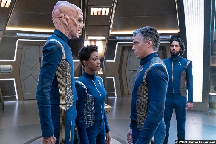 Star Trek Discovery S02e06 Doug Jones Anson Mount Sonequa Martin Green Shazad Latif Saru Captain Christopher Pike Michael Burnham Ash Tyler