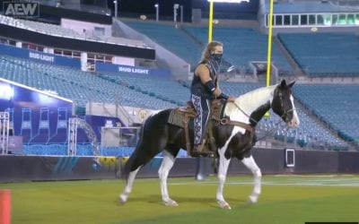 Adam Page on a horse at Double or Nothing 2020